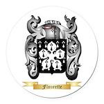 Flourette Round Car Magnet