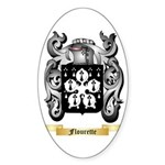 Flourette Sticker (Oval)