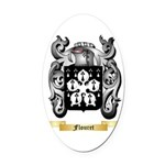Flouret Oval Car Magnet
