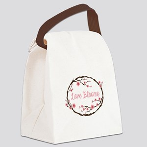 Love Blooms Canvas Lunch Bag