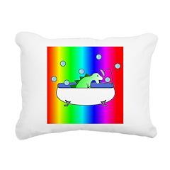DINOSHOWER4 Rectangular Canvas Pillow