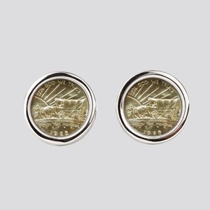 Oregon Trail Coin Cufflinks