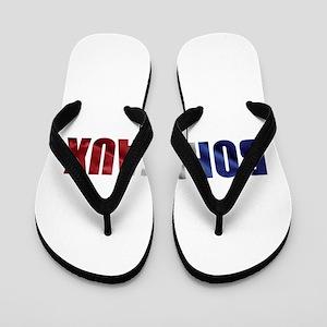 Bordeaux Flip Flops