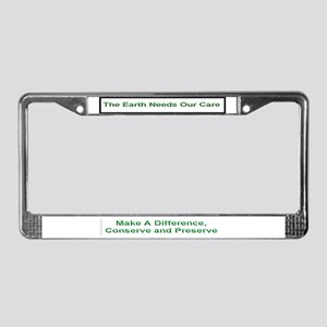 Protect the Earth License Plate Frame