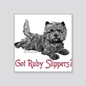 Cairn Terrier Ruby Slippers Rectangle Sticker