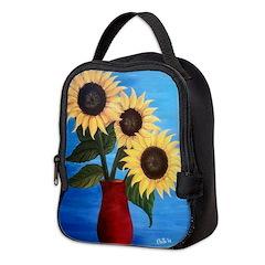 Sunflowers Neoprene Neoprene Lunch Bag