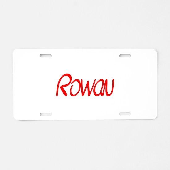Rowan Aluminum License Plate