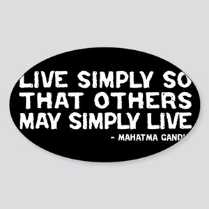 Quote - Live Simply Sticker