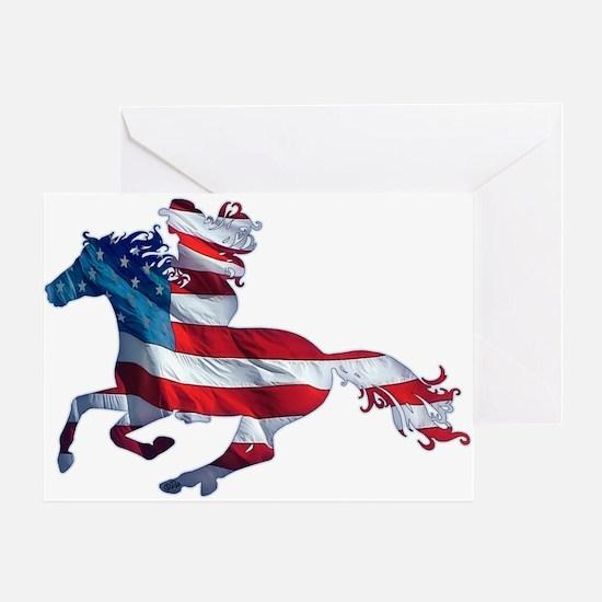American Western Horse Cowgirl Greeting Card