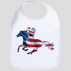 American Western Horse Cowgirl Bib
