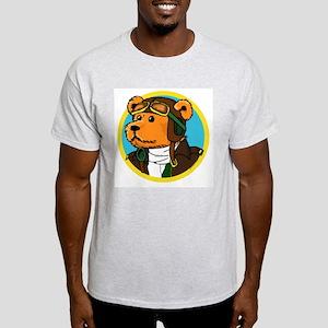 Jerry the Pilot Bear Light T-Shirt