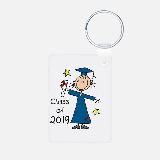 Stick Girl Grad 2016 Keychains
