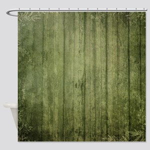 Yellow wood panel texture Shower Curtain