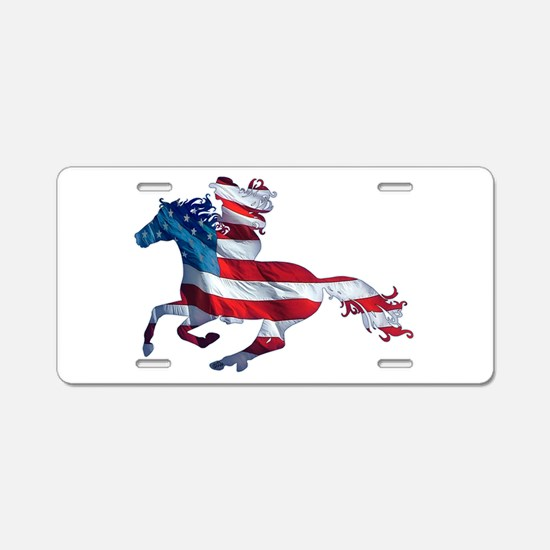 American Western Horse Cowg Aluminum License Plate