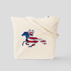 American Western Horse Cowgirl Tote Bag