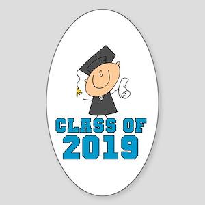 Boy Grad Class of 2016 Sticker (Oval)