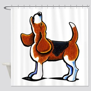 Tricolor Beagle Bay Shower Curtain