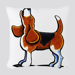 Tricolor Beagle Bay Woven Throw Pillow