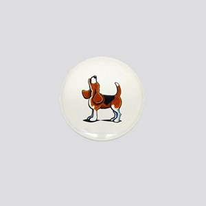 Tricolor Beagle Bay Mini Button