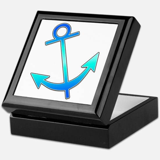 Blue Anchor Keepsake Box