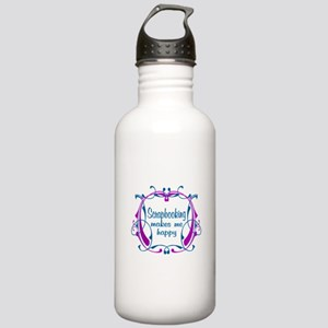 Scrapbooking Happiness Stainless Water Bottle 1.0L