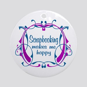 Scrapbooking Happiness Ornament (Round)