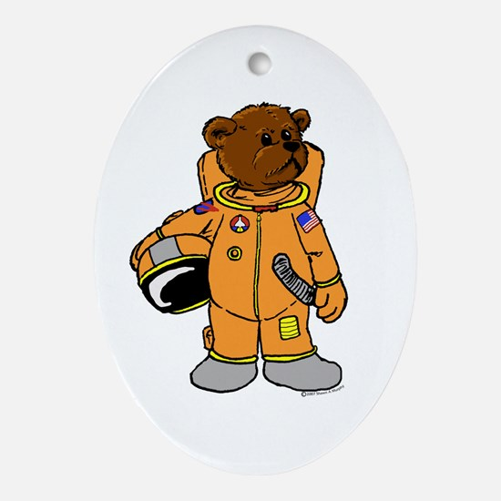 Buzz the Astronaut Bear Oval Ornament