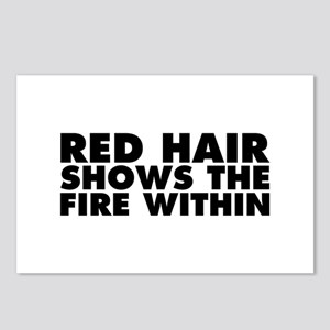 Red Hair Shows the Fire W Postcards (Package of 8)
