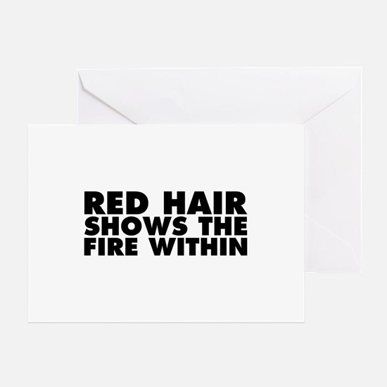 Red Hair Shows the Fire Within Greeting Card