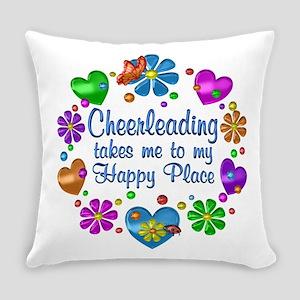 Cheerleading My Happy Place Everyday Pillow
