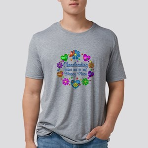 Cheerleading My Happy Place Mens Tri-blend T-Shirt