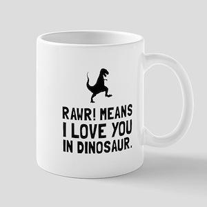 Rawr Love Dinosaur Mugs