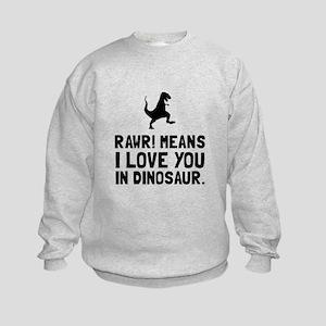 Rawr Love Dinosaur Sweatshirt