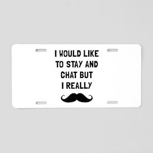 Really Moustache Aluminum License Plate