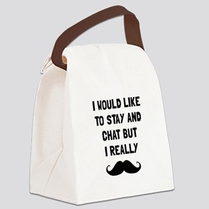 Really Moustache Canvas Lunch Bag