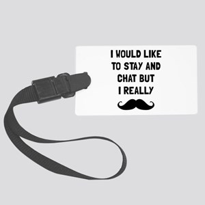 Really Moustache Luggage Tag