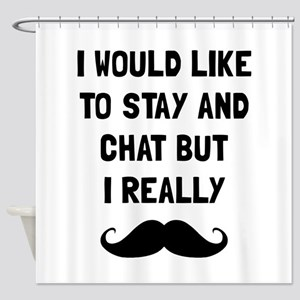 Really Moustache Shower Curtain