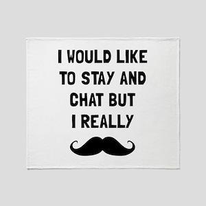 Really Moustache Throw Blanket