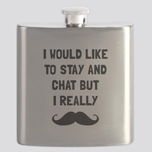 Really Moustache Flask