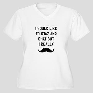 Really Moustache Plus Size T-Shirt