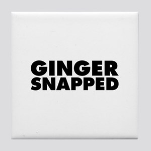 Ginger Snapped Tile Coaster