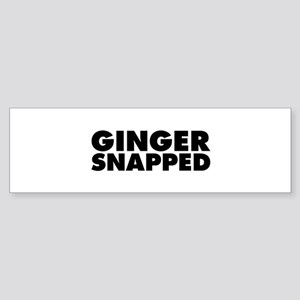 Ginger Snapped Sticker (Bumper)