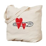 Baby Pin with Hearts Tote Bag