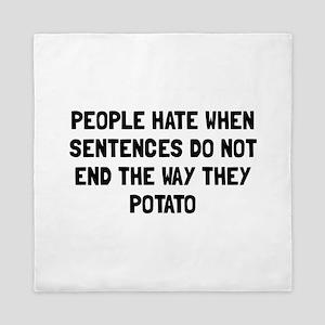 Sentences Potato Queen Duvet