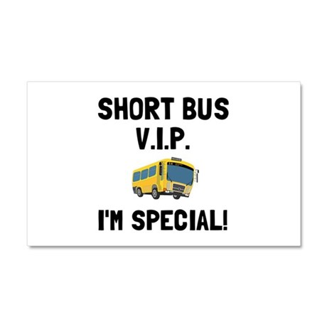 Short Bus VIP Car Magnet 20 x 12