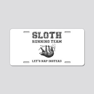 Sloth Running Team Aluminum License Plate