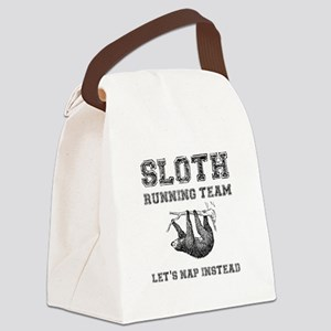 Sloth Running Team Canvas Lunch Bag