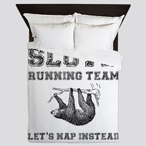Sloth Running Team Queen Duvet