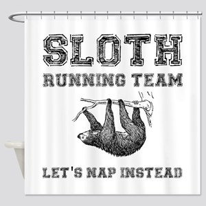 Sloth Running Team Shower Curtain