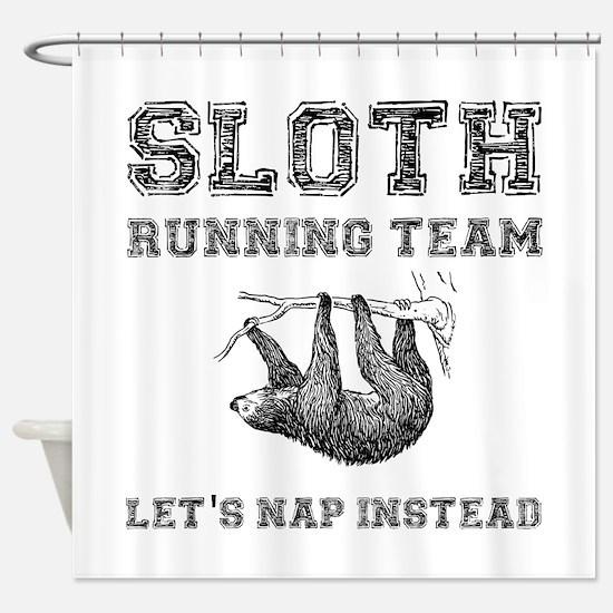Sloth Running Team Shower Curtain